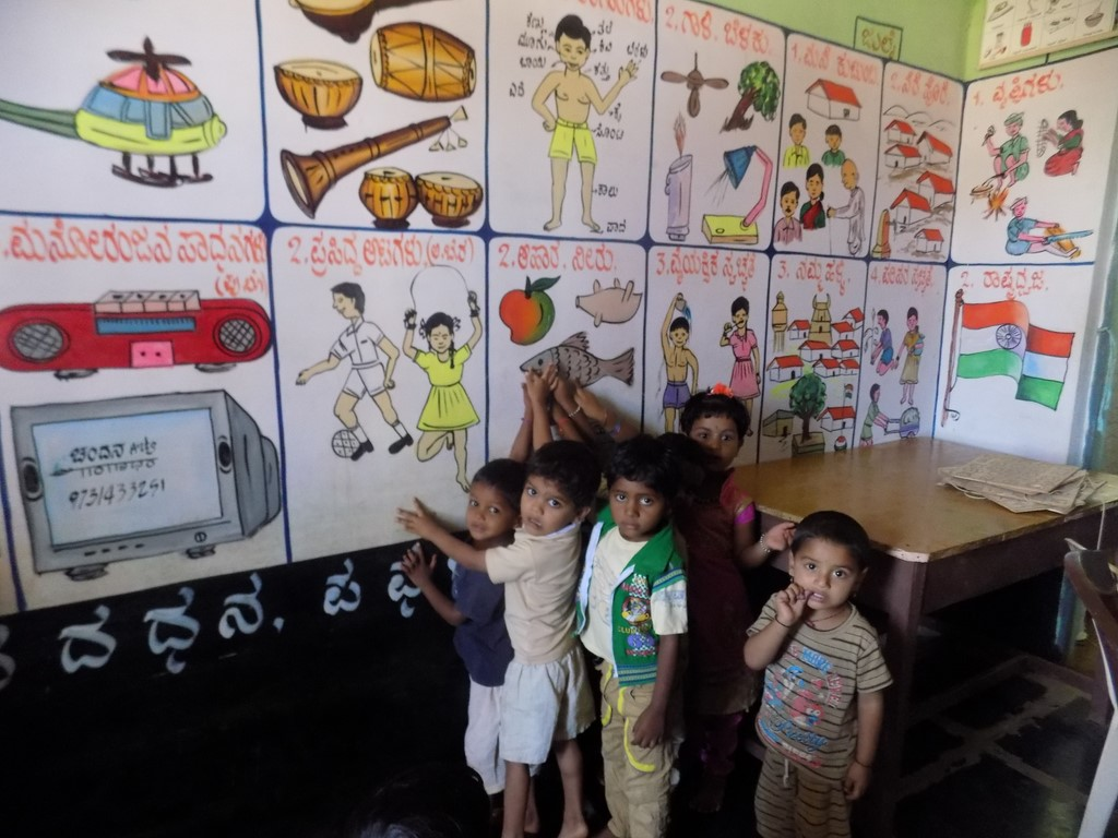 Children in Govt. Anganawadi Centre beautified by SNEHA
